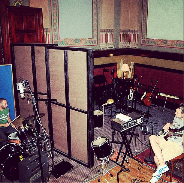 Trav and Nick in studio