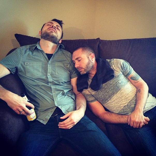 Nick, Travis, Sleep